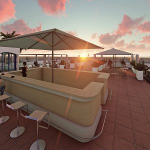 3D design of a Lounge Bar for a contest (won) located in Empuriabrava