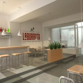 Infografia 3D d'un restaurant a Puigerdà