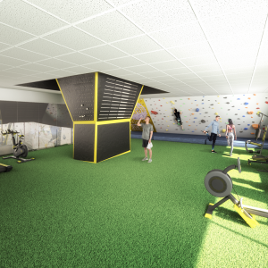 3D infographic project new gym Topclim Figueres