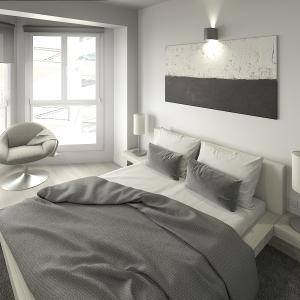 Imagen 3D de una reforma de vivienda tipo de un edificio en Girona