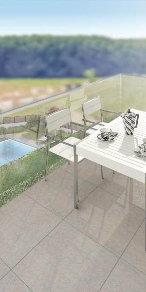 Imágenes 3D de una promoción de viviendas en Vilablareix (Girona)
