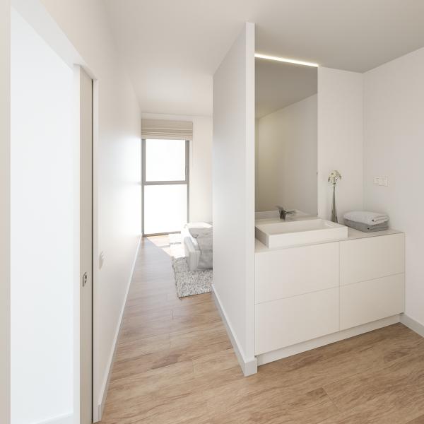 Proyecto 3D de interiorismo edificio Carme 255 de Girona